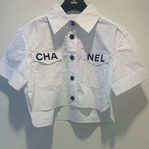 Chanel logo shirt 2019 ss